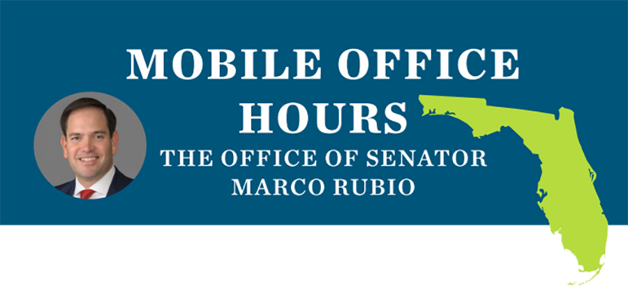 Senator Rubio Mobile Office in SCC on June 5