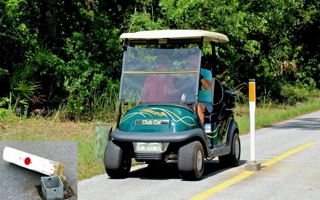 Flexible Upright Replaces Crash-Prone Cart Path Post