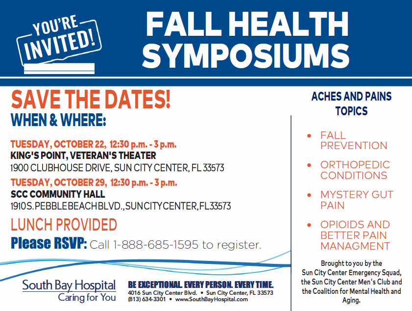 Fall Health Symposiums