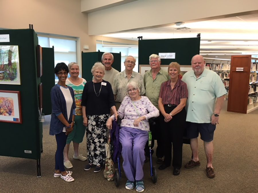 SouthShore Poets Display at Library