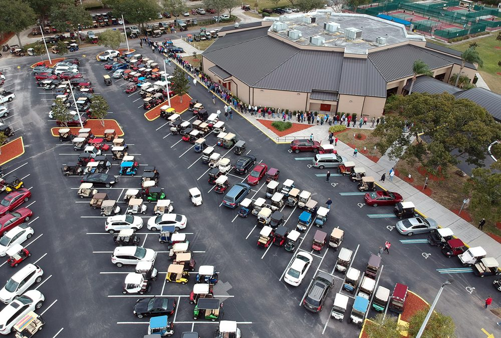 A Capacity Crowd for Area Golf Cart Study