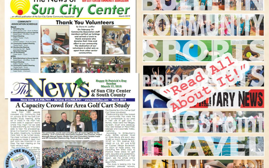 The March 2019 NEWS is HOT off the PRESS!