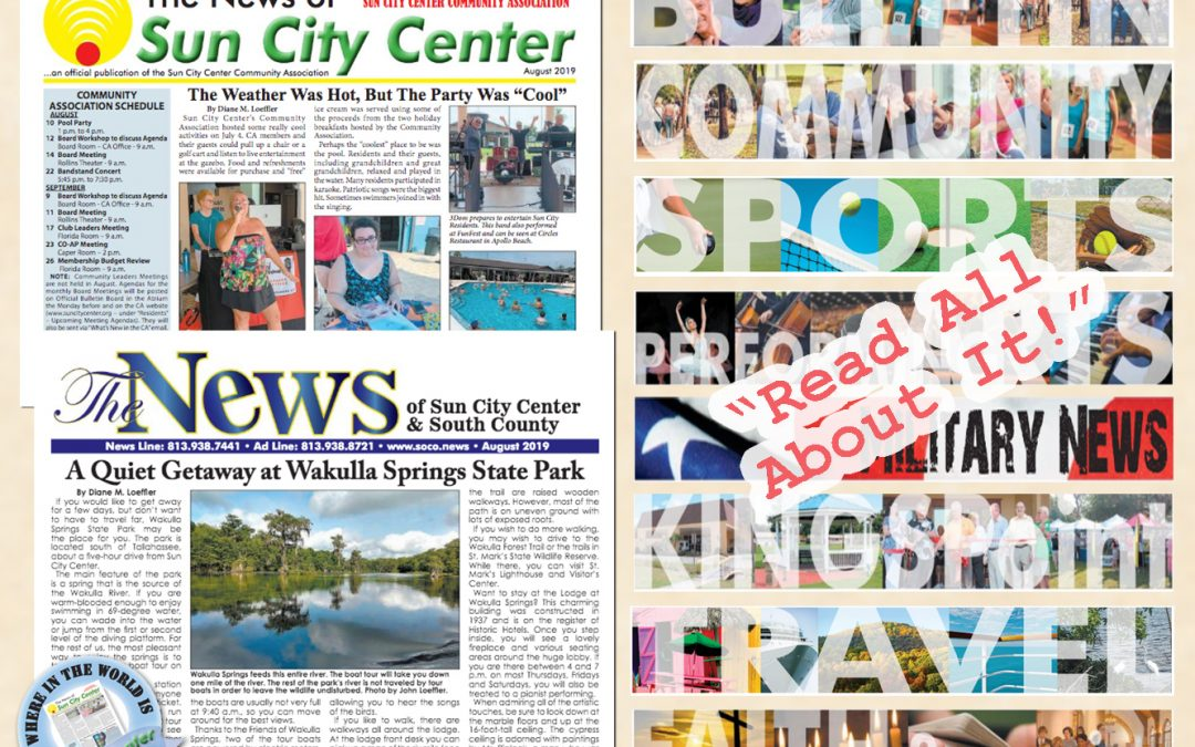 The August 2019 NEWS is HOT off the PRESS!