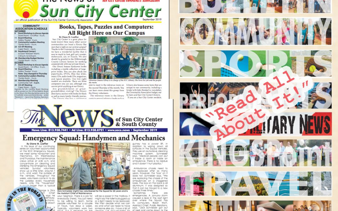 The September 2019 NEWS is HOT off the PRESS!