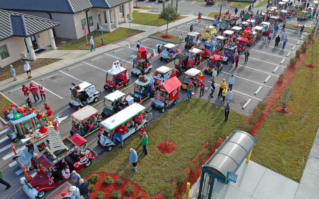 Home for the Holidays with the 2019 Golf Cart Parade