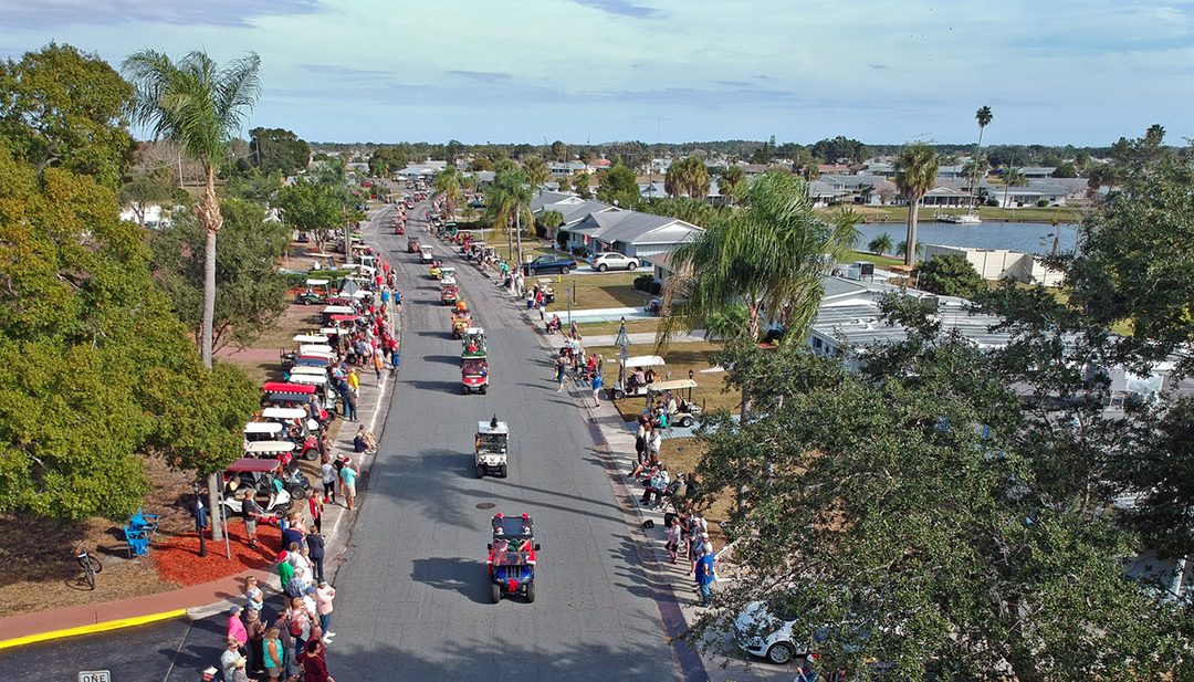 """Go """"Home for the Holidays"""" with the 2019 Golf Cart Parade"""