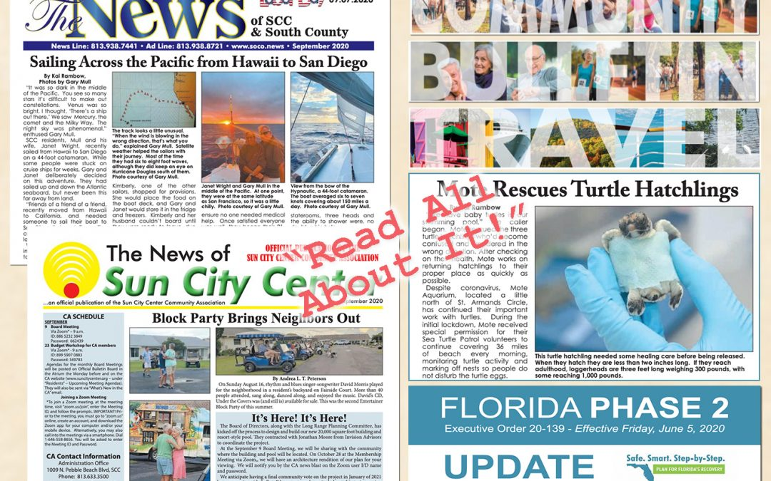 The September 2020 NEWS is HOT off the PRESS!